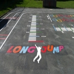 Netball Court Resurface in Aller 5