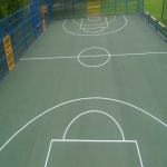 Netball Court Resurface in Aller 12