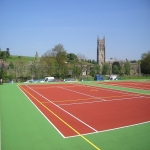 Netball Court Resurface in Aller 11