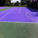 Netball Court Resurface in Aller 4