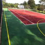 Netball Court Resurface in Allerton 11