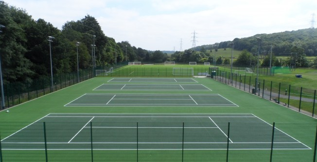 Sports Court Painting in Abbotsham