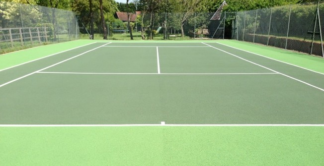 Painting Tennis Courts  in Acle