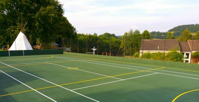 Outdoor Netball Surfaces in Aller
