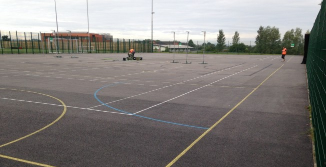 Netball Court Resurfacing in Aller