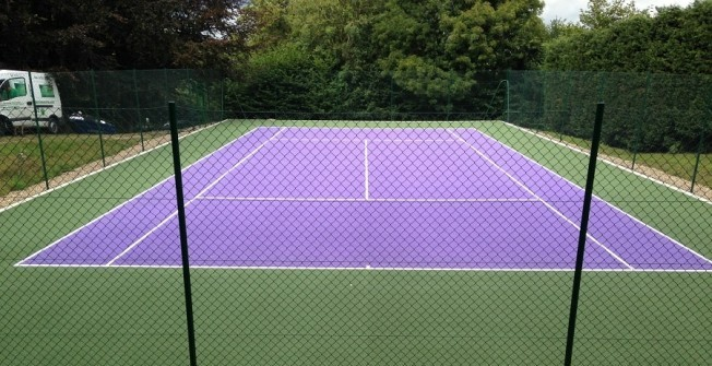 Tennis Court Resurfacing in Alkham